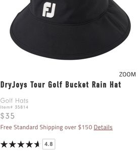 6ef69a8f5545 FootJoy Accessories | Dryjoys Golf Bucket Rain Hat Lxl | Poshmark